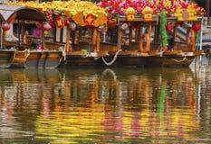 Van de het Litchibaai van bloemboten de Provincie China van Luwan Guangzhou Guangdong stock afbeelding
