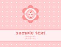 Van de het meisjesaankomst van de baby de aankondigingskaart Royalty-vrije Stock Foto