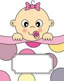 Het meisjesslaap van de baby Stock Afbeelding