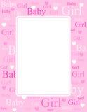 Van de het meisjesaankomst van de baby de kaart/de achtergrond Stock Afbeeldingen