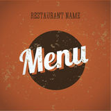 Van de het menukaart van het restaurant het uitstekende malplaatje Royalty-vrije Stock Afbeelding