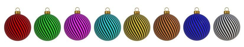 Van de het Nieuwjaar` s Vooravond van de Kerstmisbal van de de decoratiewinding van de de lijnensnuisterij herinnering van de de  vector illustratie