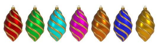 Van de het Nieuwjaar` s Vooravond van de Kerstmisbal van de de decoratiewinding van de de lijnensnuisterij herinnering van de de  stock illustratie