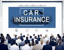 Van de het Ongevalleneis van de autoverzekering van de het Risicodefensie de Aandrijvingsconcept Stock Foto