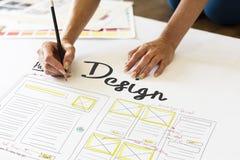 Van de het Ontwerpcreativiteit van het Webontwerp het Creatieve Concept van de de Ideeënverbinding royalty-vrije stock foto