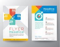 Van de het ontwerplay-out van de brochurevlieger het grafische vectormalplaatje Stock Foto