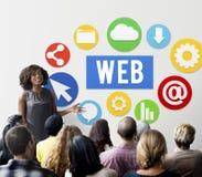 Van de het Ontwerptechnologie van de Webgrafiek de Symbolenconcept royalty-vrije stock afbeelding