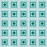 Van de het Ontwerptegel van Teal And White Polka Dot Vierkant Abstract het Patroonrep royalty-vrije illustratie