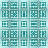 Van de het Ontwerptegel van Teal And White Polka Dot Vierkant Abstract het Patroonrep Royalty-vrije Stock Foto's