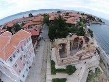 Van de het oogmening van Byrd de zonnige dag 2014 van Bulgarije Nessebar Stock Foto