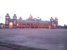 Van de het paleisdag van Mysore de timeing foto stock afbeelding