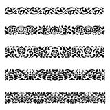 Van de het patroon Aziatische traditionele kunst van de lijngrens het Ontwerp Vectorreeks Stock Foto
