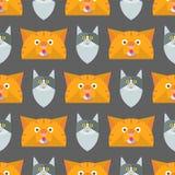 Van de het patroon grappig decoratief pot van de katten vectorillustratie leuk dierlijk naadloos de karakters katachtig binnenlan vector illustratie