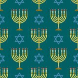 Van de het patroon hanukkah godsdienstige synagoge van de judaïsmekerk de traditionele naadloze vectorillustratie van Jood passov Stock Foto