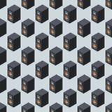 Van de het patroonmuziek van het huis het isometrische correcte systeem stereo akoestische 3d vector naadloze materiaal van de de Royalty-vrije Stock Foto