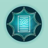 Van de het pictogram de magische glazige zonnestraal van de e-mailadrespagina van de de knoophemel blauwe blauwe achtergrond royalty-vrije illustratie