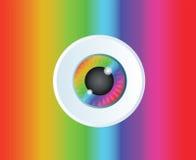Van de het pictogramkunst van de oogappelregenboog de vectorachtergrond Royalty-vrije Stock Afbeelding