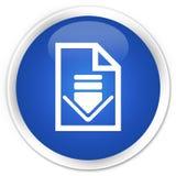 Van de het pictogrampremie van het downloaddocument de blauwe ronde knoop Stock Fotografie