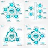 Van de het processtap van het cyclusdoel de diagrammeninzameling Infographic vectormalplaatje voor rapporten, plannen, presentati stock illustratie