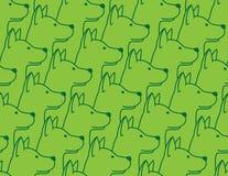 Van de het puppy Franse buldog van het hond isoleerde de Naadloze Patroon vectorachtergrond van het de hondenbehang groen royalty-vrije illustratie