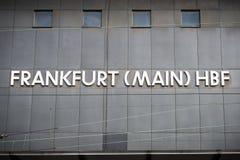 Van de het Spoorpost van Frankfurt Centrale het Programmaraad Stock Fotografie