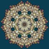 Van de het sprookjestad van de cirkelfantasie de vectorachtergrond Royalty-vrije Stock Foto