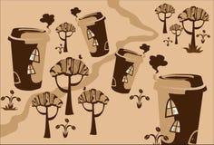 Van de het sprookjetekening van het beeldverhaal de stad van Ñofe. Stock Foto