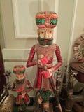 Van de het standbeeldslijtage van de Rajasthanemens de traditionele kleding stock foto's