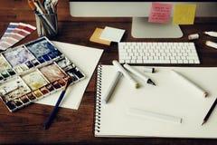 Van de het Start ontwerpstudio van het ideeën Creatief Beroep de Tekenings Concept stock afbeeldingen