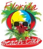 Van de het strandbranding van Florida van het de clubconcept de Vectorzomer die retro badg surfen Royalty-vrije Stock Afbeeldingen