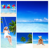Van de het Strandontspanning van de vrouwenzomer de Vakantieconcept royalty-vrije stock foto