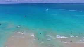 Van de het Strandscène van Miami de luchtvideo stock footage