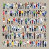Van de het Succesviering van de mensendiversiteit het Geluk Communautair Concept stock illustratie