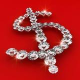 Van de het symboolvorm van de dollar de illustratie van de de diamantkunst Stock Foto's