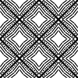 Van de het tapijtcultuur van het ontwerppatroon witte vector zwarte geometrische gestreepte decoratieve van de het ornamentgrafie stock illustratie