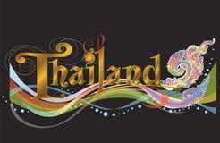 Van de het tekenbanner van Thailand vector de fusiekunst met de klassieke stijl van Europa Stock Afbeeldingen