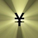 Van de het tekenYen van de munt het geldgloed Stock Afbeeldingen