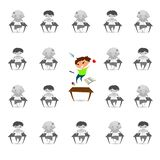 Van de het tekorthyperactiviteit van de kinderenaandacht de wanordeprobleem Vecto stock afbeeldingen