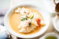 Van de het Voedsel Thaise Keuken van de kerriekip het Thaise Etnische Voedsel van Thailand Stock Foto