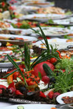 Van de het voedsellijst van de catering de vastgestelde decoratie Royalty-vrije Stock Foto