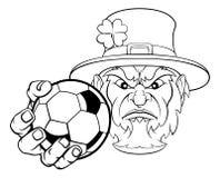 Van de het Voetbalbal van de kabouterholding de Sportenmascotte royalty-vrije illustratie