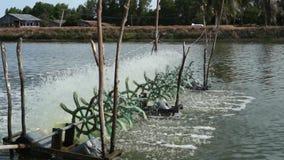 Van de het waterbehandeling van de zuurstoflevering het beluchtingstoestelturbines stock videobeelden