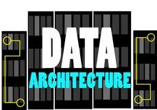 Van de het woordtekst van de gegevensarchitectuur het embleemillustratie stock illustratie