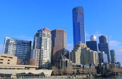 Van de het Zuidenbank van Melbourne cityscape Australië Royalty-vrije Stock Afbeeldingen
