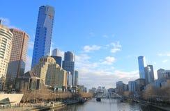 Van de het Zuidenbank van Melbourne cityscape Australië Stock Afbeeldingen