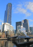 Van de het Zuidenbank van Melbourne cityscape Australië Royalty-vrije Stock Foto's