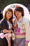 Van de heuvelstammen van Hmong de man en de vrouw. Royalty-vrije Stock Foto's