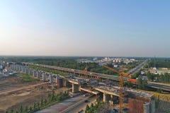 Van de de hoge snelheidsspoorweg van China de bouwscène Royalty-vrije Stock Foto