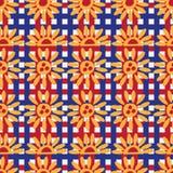 Van de hondinu Hariko van Japan van de het lichaamsverf het horizontale naadloze patroon vector illustratie