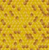 Van de honingraat naadloos patroon als achtergrond Royalty-vrije Stock Foto